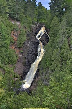 Big Manitou Falls at Pattison State Park is the highest waterfall in Wisconsin at 165 feet and the 4th largest east of the Rockies.