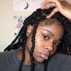 Braids Hairstyles Pictures, Dope Hairstyles, Box Braids Hairstyles, Hair Pictures, Marley Twist Hairstyles, Black Girl Braided Hairstyles, Black Women Hairstyles, Natural Braided Hairstyles, Natural Hair Braids