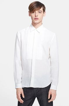 White Linen Longsleeve Shirt by Burberry. Buy for $595 from Nordstrom