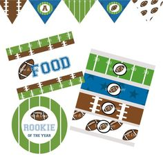 Football Decorations for Birthday Party or Baby Shower - Boys MVP DIY Printable Decor by BeeAndDaisy - Instant Download on Etsy, $12.00