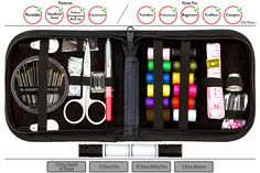 WE HAVE GOT YOUR BACK WITH 4 EXTRA BONUSES INCLUDED. Sewing Kit comes with: high quality scissors, tape, seam ripper, needles, thimble, threaders, pins, buttons, and 12 spools of thread in the most popular colors, Plus we have gone further and added 4 extra bonuses to this package (+10 Pins, +3 Black Buttons, +10 Safety Pins, +4 Spools of Thread (White & Black Thread Color))