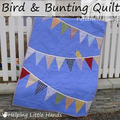 I'm finally ready to share the details ( and template ) for the Bird and Bunting Quilt I made for Sweet Pea for Christmas. )     And det...