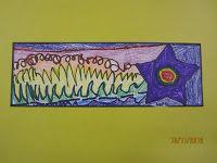 Amazing Art Adventures : Shooting Stars (Kindergarten) (maybe pre-draw the star for preschool age. Kindergarten Drawing, Kindergarten Art Lessons, Kindergarten Art Projects, Art Lessons Elementary, Kindergarden Art, Line Art Lesson, Line Art Projects, Advent, First Grade Art