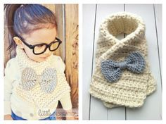 Child's Scarf with Bow.  I'm totally making this for my daughter!!  Love it!