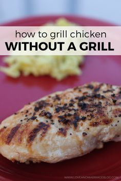 How to make grilled chicken without a grill! Perfect for cold and rainy days.
