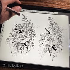 No photo description available. – Flower Tattoo Designs Flower Tattoo Designs - flower tattoos designs - No photo description available. Diy Tattoo, Tattoo Life, Tattoo Fonts, Tattoo Ideas, Tattoo Drawings, Body Art Tattoos, Sleeve Tattoos, Tattoo Designs Foot, Flower Tattoo Designs
