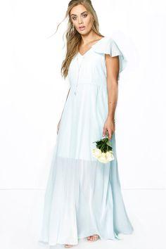 Plus Mandy Chiffon Cape Detail Maxi Dress