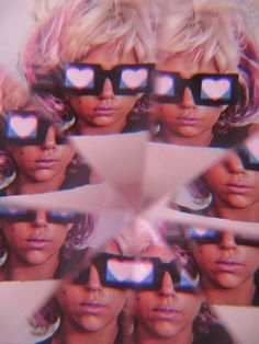 hearts in 3d.