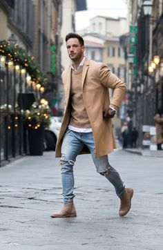 Winter/Spring transitional men's fashion and outfit ideas