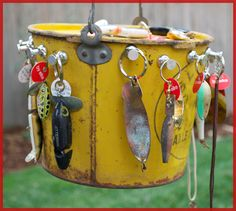 Vintage fishing lure key chain. I have one I was given I think I might try making some myself