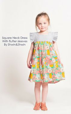 Square Neck Dress || Tutorial || Summer Collection - Shwin&Shwin