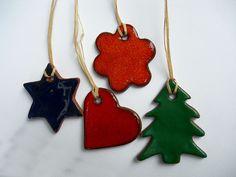 christmas ornaments .. decorations.. heart .. flower .. tree .. star .. by handebilten, via Flickr