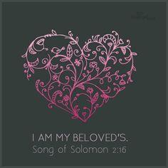 "Song of Solomon 2:16. ""Ani l'dodi, v'dodi-li..."" I am my beloved's, & he is mine..."