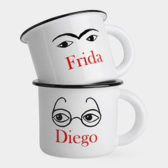 One set for me, one set for dad: Frida and Diego Mugs | MoMAstore.org