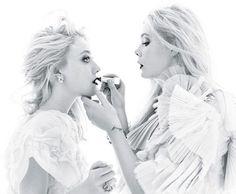 Dakota & Elle Fanning.  W Dec 2011.  Stunning.