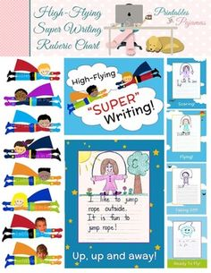 """Use this unique rubric in your kindergarten classroom to encourage your students to be """"super"""" writers!"""