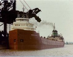 The George D. Goble loading coal at C #3 coal dock.