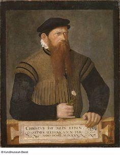 Jost Amman, Bildnis eines bärtigen Mannes (1565, Kunstmuseum Basel)