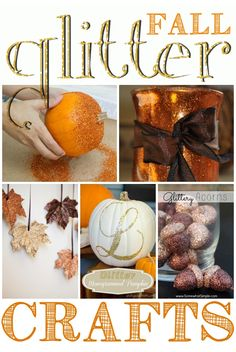 Who doesn't love glitter? Love all of these fall glitter craft ideas.