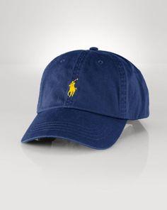 1a8192a37f503 Cotton Chino Baseball Cap - Polo Ralph Lauren Hats - RalphLauren.com