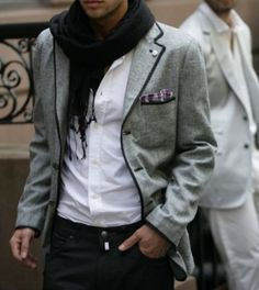mens fashion, scarf, jacket, shirt, fashion