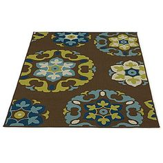 Outdoor Oasis Multi Medallion Indoor/Outdoor Rug - jcpenney
