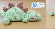 Eu quero crochê: Bebê dino dormindo - Receita grátis! / Sleeping baby dino - Free pattern!