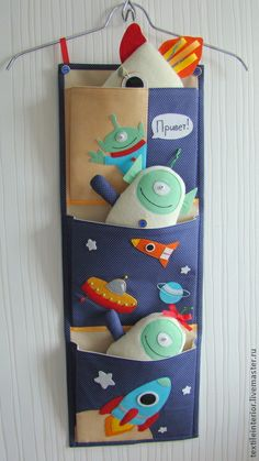 """Детская ручной работы. Ярмарка Мастеров - ручная работа Текстильные кармашки """"Cosmo компания"""". Handmade."""