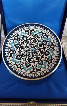 handmade traditional Turkish tile plate painting by me.  ★ Handmade painted by me ★ ★ Special tile coloring★ ★ Size : W: 740 gr. (approx.) D: 26cm