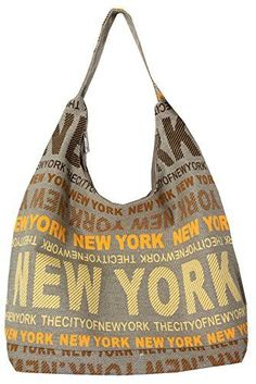 Robin Ruth New York City Cotton Fabric Hobo Shoulder Bag Orange * Read more reviews of the product by visiting the link on the image.