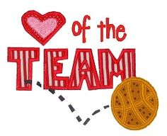 Heart of the Team- Basketball- 3 Sizes! | Words and Phrases | Machine Embroidery Designs | SWAKembroidery.com Kimberbell Kids