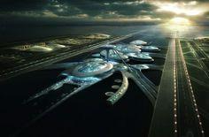 #Aeroporto del futuro. Rendering del Thames Hub Airport su progetto di #Norman #Foster