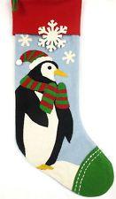 Company Store Holiday Wool Felt Christmas Stocking Penguin Design NWD #489P AP76
