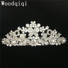 NEW Elegant Beauty Pageant Queen Rhinestone Bridal Wedding Prom Hair Tiara Crown coronas de cristal
