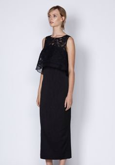 Alexia Embroidered Peplum Dress In Black | Dresses | Shop the latest women's fashion at Oncewas