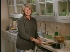 Martha Stewart shares how to properly load a dishwasher.
