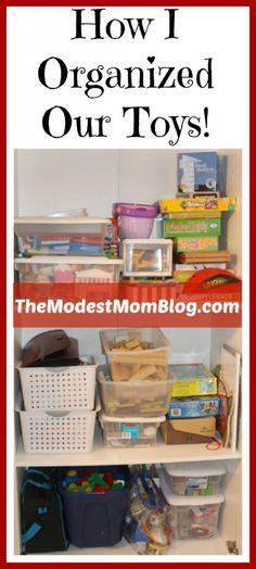 How I Organized Our Toys   themodestmomblog.com