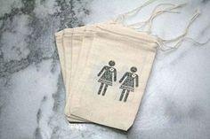 These cute favour bags. | 23 Super Cute Lesbian Wedding Ideas