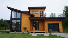 Builds Newest in Contemporary Home Plans Timber Block features newest in Contemporary Home Plans Small Modern House Plans, Modern House Design, Modern Contemporary Homes, Contemporary Architecture, Sustainable Architecture, Modern Homes, Modern Mediterranean Homes, Modern Exterior, Exterior Colors