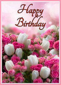 Happy Birthday Emoji, Happy Birthday Gif Images, Happy Birthday Flowers Wishes, Happy Birthday Greetings Friends, Birthday Cards Images, Happy Birthday Beautiful, Birthday Wishes Cards, Deco Floral, Quotes