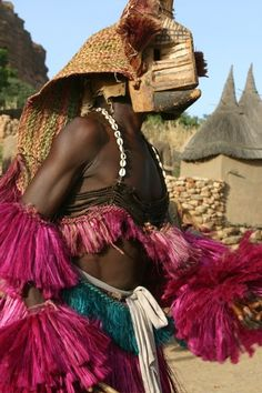 Africa | Masquerader/Dancer from the Dogon people of Mali | ©Sarah J Design & Photography