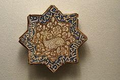 Star-shaped tile with gazelle, 1200-1350. Iran. https://www.flickr.com/photos/julia_manzerova/7160305594