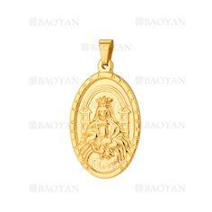 colgante de santa maria dorado acero inoxidable -SSPTG921386