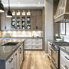 I LOVE The Kitchen Cabinet Colors/design!