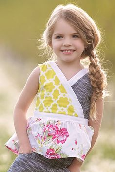 A side pancaked fish tail keeps this look casual yet tidy. This look can be found in our Daffodils and Dandelion Collection Girls Boutique, Boutique Clothing, Fashion Boutique, Jules Boutique, Little Girl Fashion, Kids Fashion, Persnickety Clothing, Cute Kids Photography, Beautiful Children