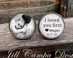 Father of the Bride Cufflinks Custom Photo by NowThatsPersonal Wedding Gifts For Parents, Wedding Gifts For Groom, Wedding Pics, Budget Wedding, Bride Gifts, Gifts For Father, Wedding Planning, Wedding Ideas, Wedding Themes