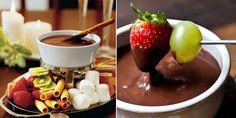 O Fondue de chocolate é uma delicia que agrada à todos e é um motivo a mais para unir as pessoas.Perfeito para aquecer e adoçar a vida, principalmente no inverno a estação mais romântica do ano!