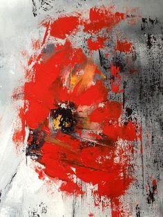 Toiles Peinture, Aquarelles Fleurs, Inspiration Peinture, Peinture Acrylique, Peinture Abstraite, Art Abstrait, Peintures, Peinture Au Couteau, ... Antler Art, Landscape Artwork, Art Floral, Painting Techniques, Land Scape, Flower Art, Cool Art, Art Projects, Abstract Art