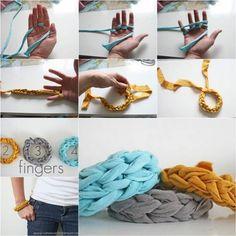 Zelf eenvoudig een armband vingerhaken.