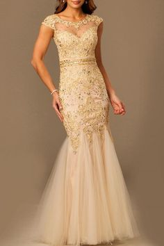 Shoptiques Product: Tulle Sequin Silk Dress - main